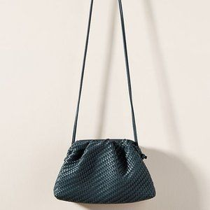 Navy Anthropologie Woven Clutch/Crossbody (NWT)